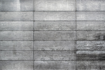 Concrete Wall with Rectangular Shaped Gray Blocks, Urban Backdrop, Street Textures