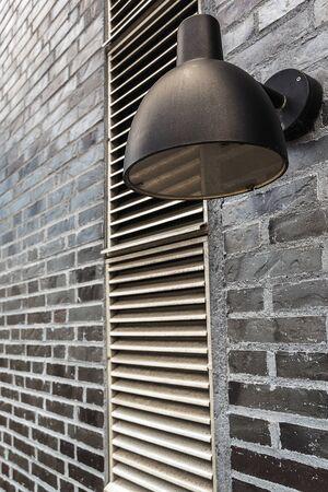 outdoor lighting: Modern Outdoor Lamp Light Mounted on Brick Wall, Exterior Lighting Equipment