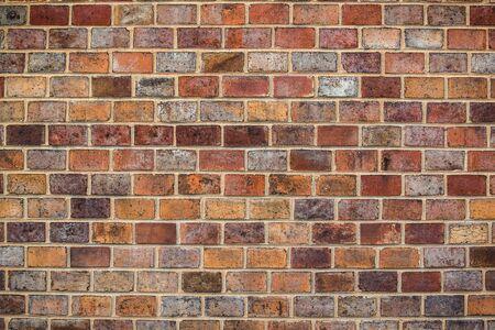 Rustic brickwork, old brick wall texture, retro toned