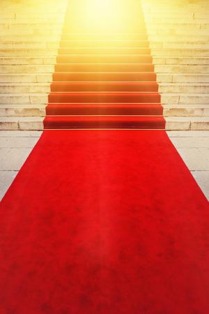 semaforo rojo: El concepto de la alfombra roja para los VIP y celebridades Celebraci�n Exclusivo eventos Ceremonial. Foto de archivo