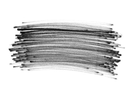 abstract black: Felt pen doodle scribbles isolated on white