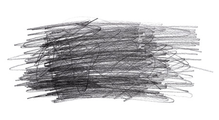 Graphite pencil doodle scribbles isolated on white