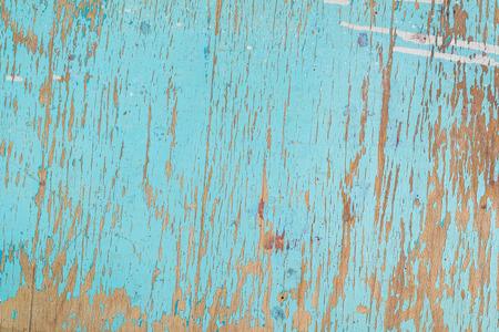 Rustieke houten textuur, oude houten achtergrond met blauwe peeling verf