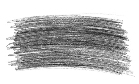 graphite: Graphite pencil doodle scribbles isolated on white background Stock Photo