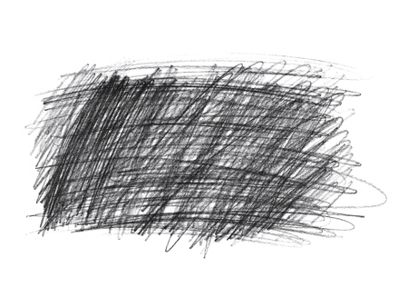 rough: Graphite pencil doodle scribbles isolated on white background Stock Photo