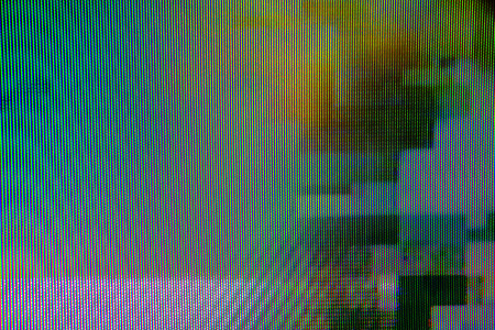signals: Digital TV broadcast glitch, television screen as technology background
