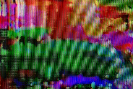 디지털 TV 방송의 결함, 기술 배경으로 TV 화면 스톡 콘텐츠