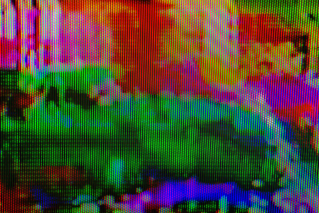 television: Digital TV broadcast glitch, television screen as technology background