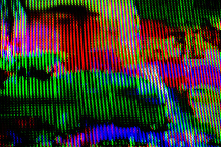 background texture: Digital TV broadcast glitch, television screen as technology background