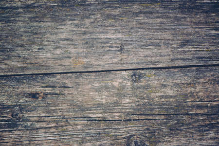 Obsolete old wooden plank texture as autumn background, retro toned
