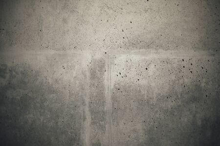 cement wall: Industrial cement concrete wall texture, full frame retro toned sample background. Stock Photo