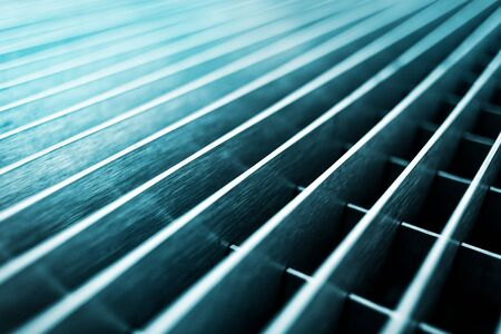 metal grid: Abstract metal grid background, selective focus with shallow depth of field Stock Photo