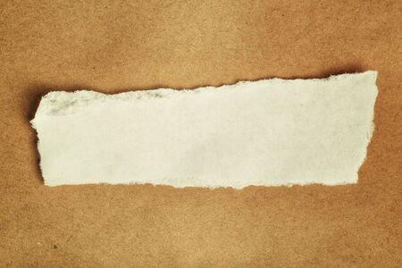 ferraille: Morceau de papier de rebut comme copie espace, vue de dessus Banque d'images