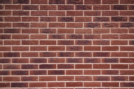 paredes de ladrillos: Expuesto textura de la pared de ladrillo rojo, patrón de ladrillo Foto de archivo