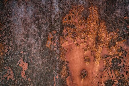 corroded: HDR rusty metal plate texture as background
