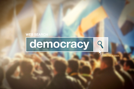 glossary: Web search bar glossary term - democracy definition in internet glossary.