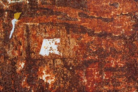 corroded: Old corroded metal plate texture, abstract red rusty background