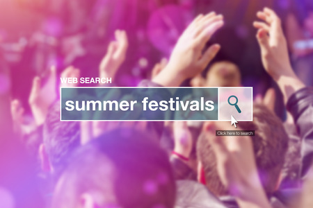 thesaurus: Web search bar glossary term - summer festivals definition in internet glossary.
