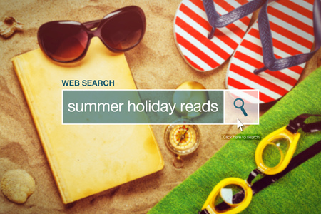 thesaurus: Web search bar glossary term - summer holiday reads definition in internet glossary. Stock Photo