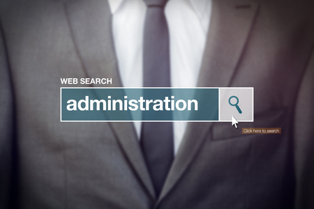 glossary: Web search bar glossary term - business administration definition in internet glossary.