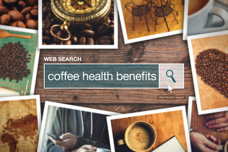 thesaurus: Web search bar glossary term - coffee health benefits definition in internet glossary.
