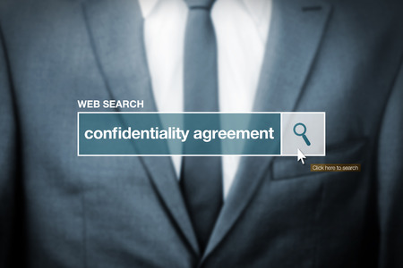 glossary: Web search bar glossary term - confidentiality agreement definition in internet glossary.