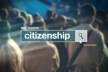 naturalization: Citizenship - web search bar glossary term on internet