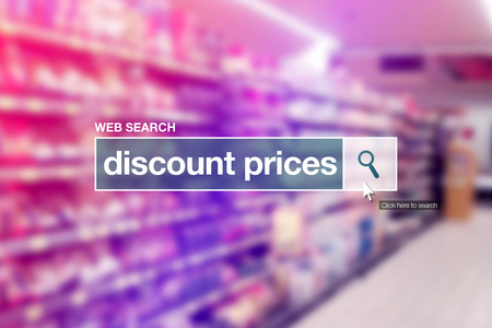 search bar: Discount prices - web search bar glossary term on internet