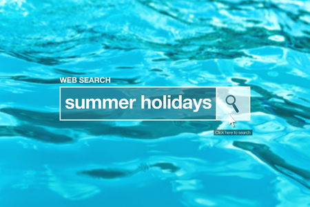thesaurus: Summer holidays - web search bar glossary term on internet