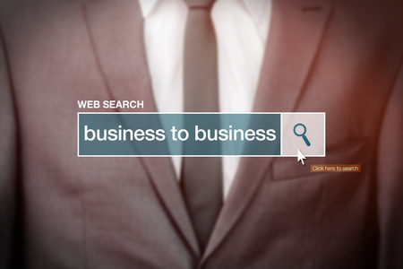 glossary: Business to business - web search bar glossary term on internet