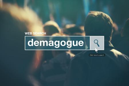 glossary: Demagogue - web search bar glossary term on internet
