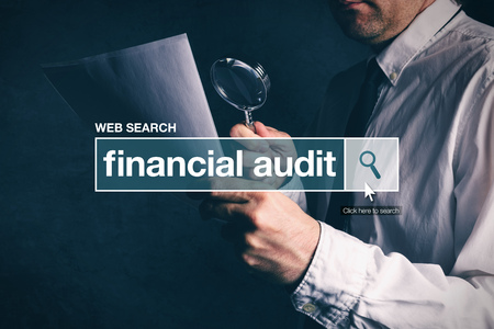 thesaurus: Financial audit web search bar glossary term on internet