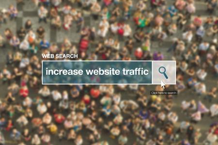 website traffic: Increase website traffic web search bar glossary term on internet