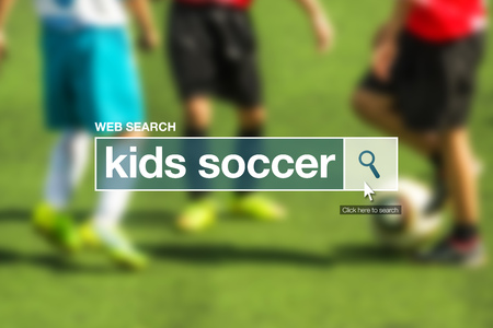 glossary: Kids soccer web search bar glossary term on internet