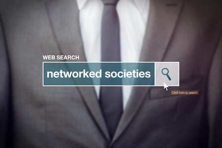 search bar: Networked societies web search bar glossary term on internet