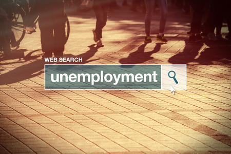 glossary: Unemployment web search bar glossary term on internet