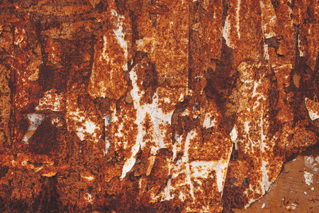 corroded: Corroded sheet metal plate, abstract texture of oxidating metal surface Stock Photo