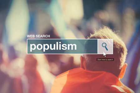 search bar: Web search bar glossary term - populism definition in internet glossary.