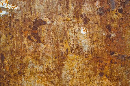 ferraille: Corrosion texture, surface de la plaque d'acier, texture détaillée de la vieille ferraille rouillée Banque d'images