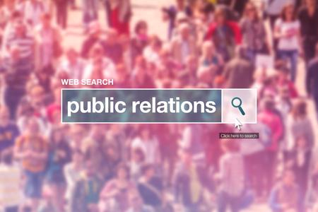 relaciones publicas: Las relaciones públicas cuadro de búsqueda en la página web de Internet.