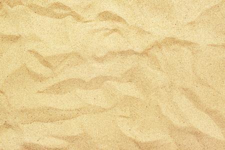 Bovenaanzicht van hot gele strand zand textuur, de zomer vakantie vakantie achtergrond.