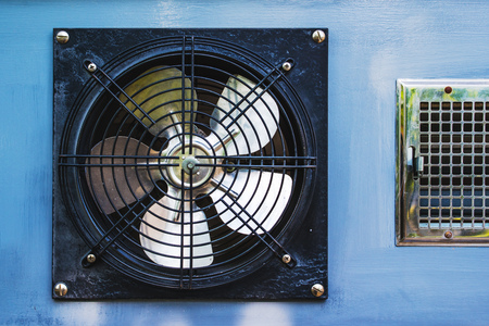 axial: Axial cooling fan blower in garage