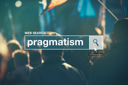 thesaurus: Web search bar glossary term - pragmatism definition in internet glossary. Stock Photo