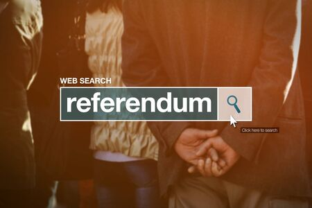 glossary: Referendum web search bar glossary term in internet glossary.