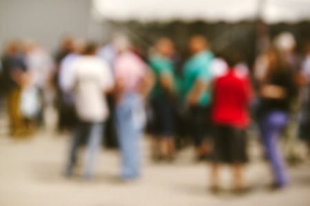 social gathering: Blur people on outdoor social gathering, abstract background