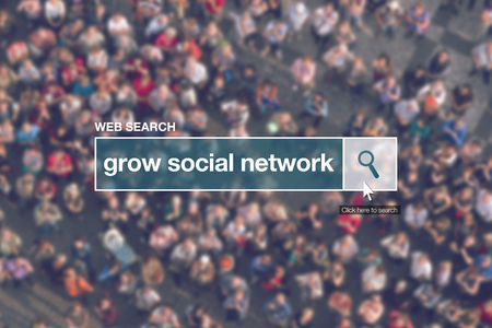 glossary: Grow social network - web search bar glossary term in internet glossary.