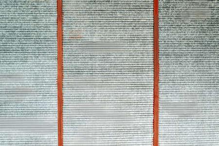 oxidized: Obsolete grunge metal surface texture, oxidized zinc plates as background