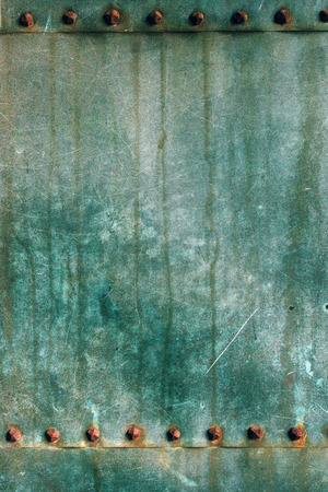 oxidated: Oxidized copper plate surface texture, abstract corroded metal background Stock Photo