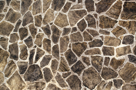 Stonework texture, abstract background of stone wall or flooring made of rocks as construction material