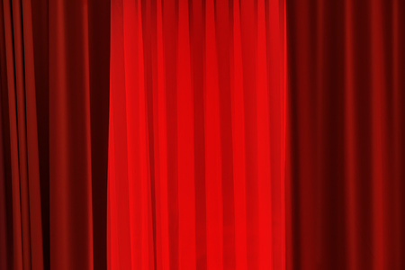 entertainment background: Theater red curtain as abstract entertainment background Stock Photo